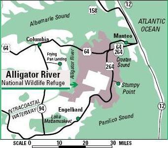 Alligator River National Wildlife Refuge The Beauty Around Us - Map of alligators in us
