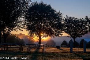 Sunrise, Sky, Fog